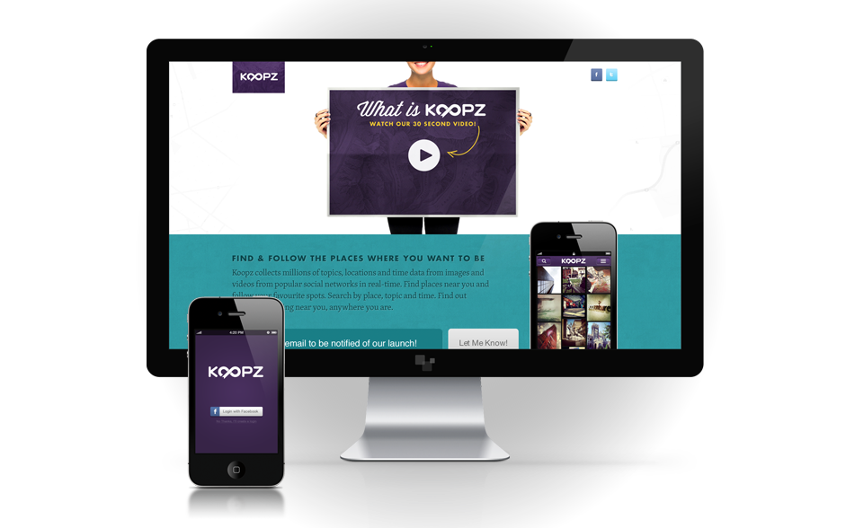 Image of Koopz Launch page for Portfolio